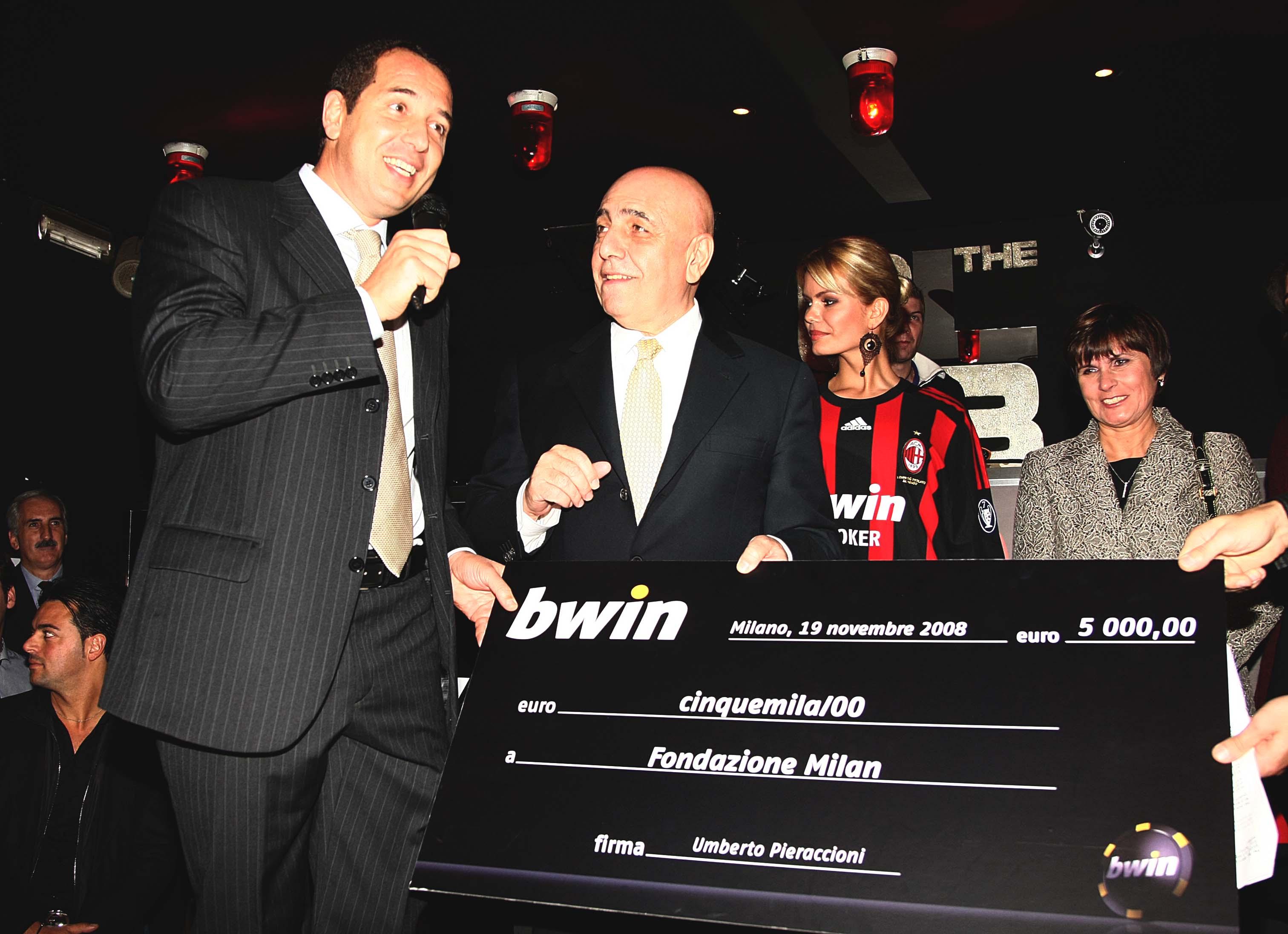 Milan e bwin in festa al the club per beneficenza for The club milan